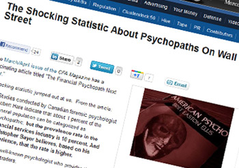 Business Insider -The Shocking Statistic About Psychopaths On Wall Street